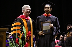 Daniel Khoury awarded the College of Engineering Graduating Student Leadership Award